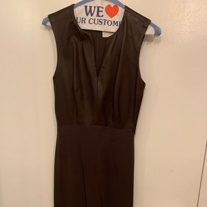 Leather brown Vera wang dress